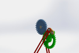 Planetary Gear with Four-bar Linkage