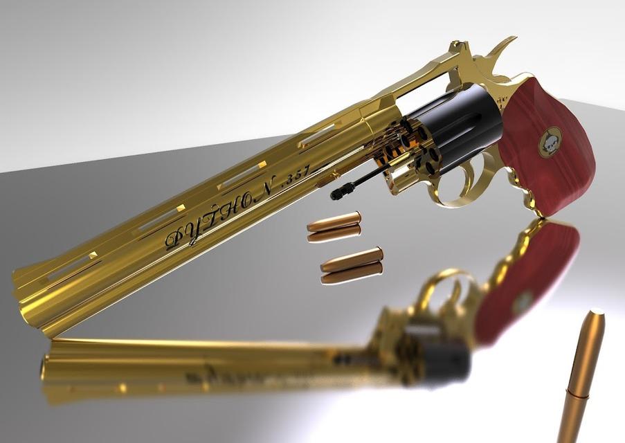 Colt Python 8  357 Magnum 1955 | 3D CAD Model Library | GrabCAD