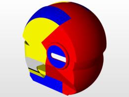 Iron man blue helmet