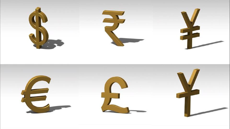 Currency Symbols 3d Cad Model Library Grabcad