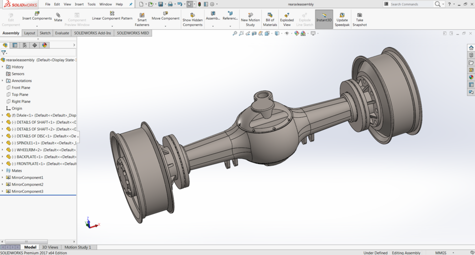 REAR AXLE ASSEMBLY | 3D CAD Model Library | GrabCAD