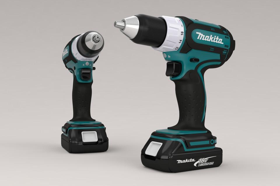 Makita cordless drill | 3D CAD Model Library | GrabCAD