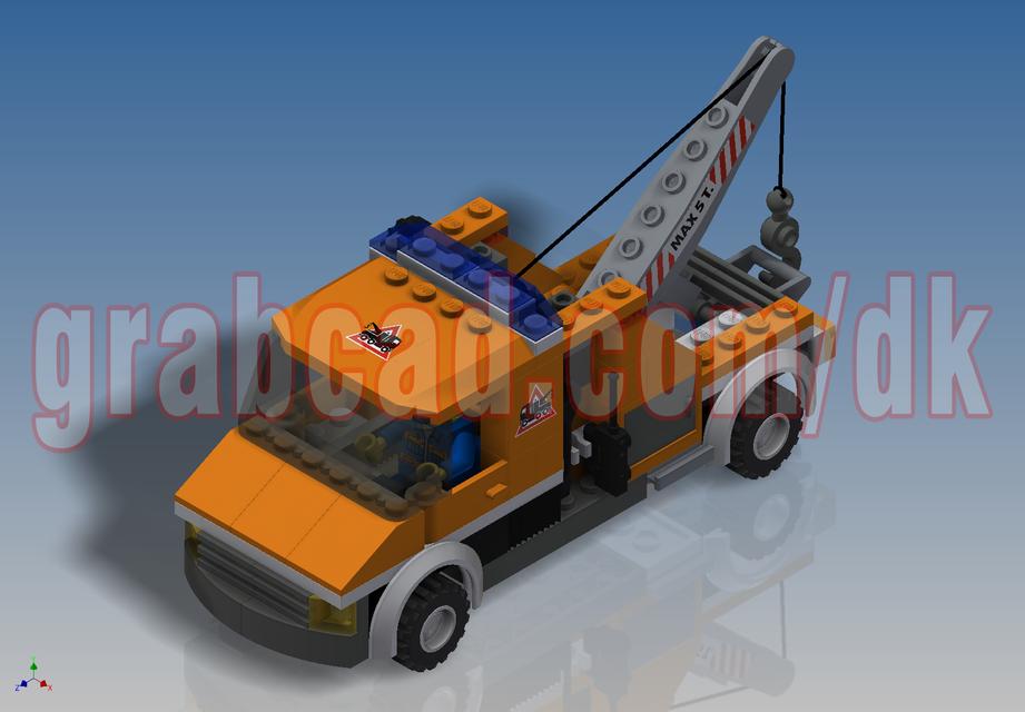 LEGO City - Tow Truck (7638) | 3D CAD Model Library | GrabCAD