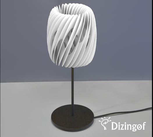 Lamp Shade Air - Math Art by @Dizingof