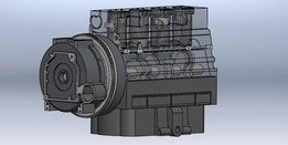 Engine with Cylinder Block