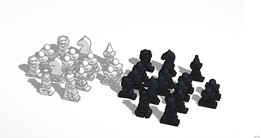 Letter Chess Pieces