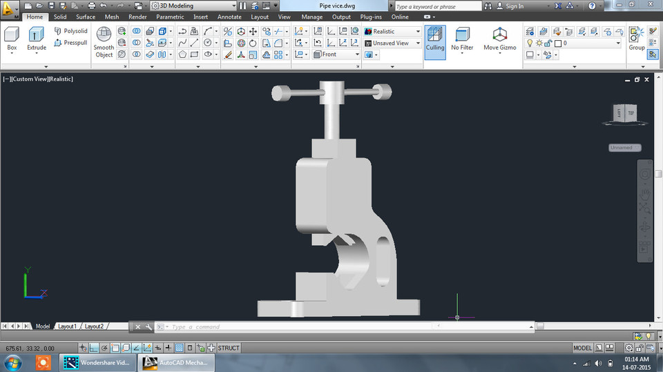 Pipe vice Assemble drawing in CAD | 3D CAD Model Library | GrabCAD