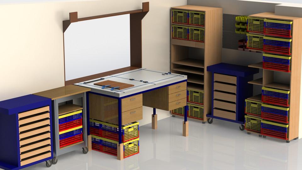 Small workshop layout - Solidworks 2015 version (work in progress