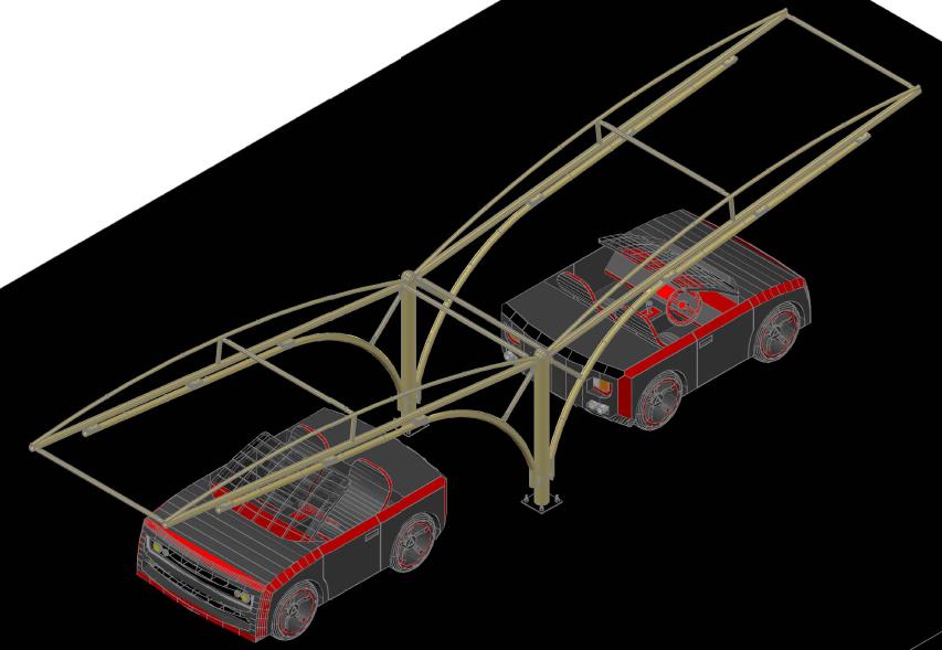 Car Parking Shade 3d Cad Model Library Grabcad