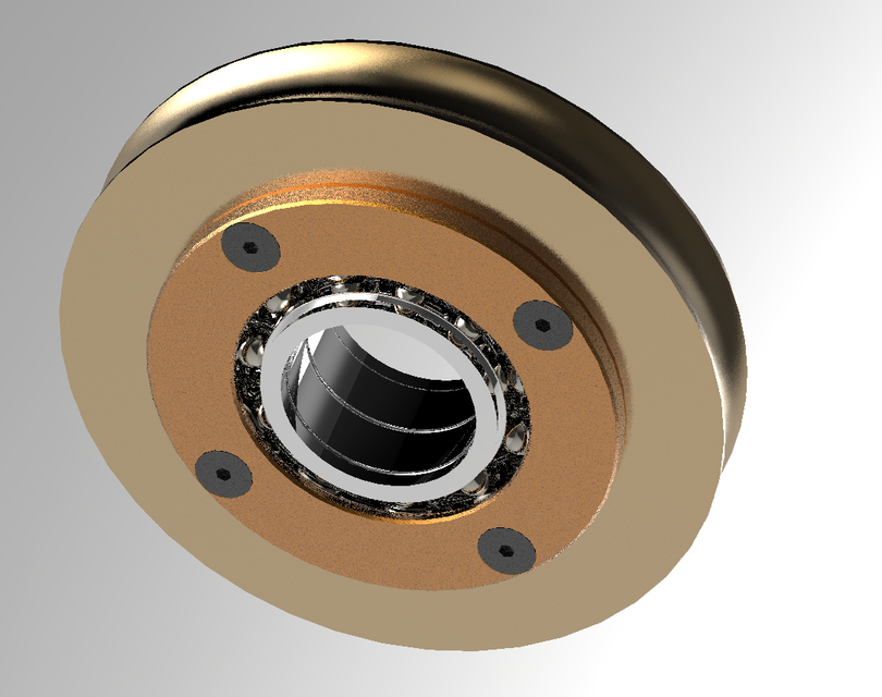 Steel Wire Cable Pulley | 3D CAD Model Library | GrabCAD