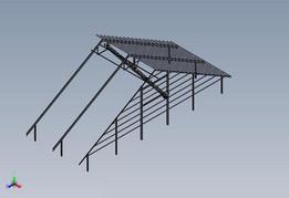 18m suspended grain shed loading auger