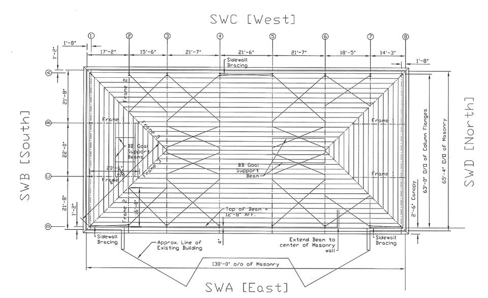 Roof Framing Plan - Complex Steel Design | 3D CAD Model Library ...