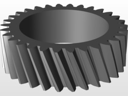 Helical Gear from Spur Gear Pattern