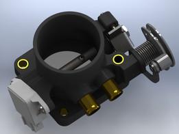 Throttle body with an external regulator idle