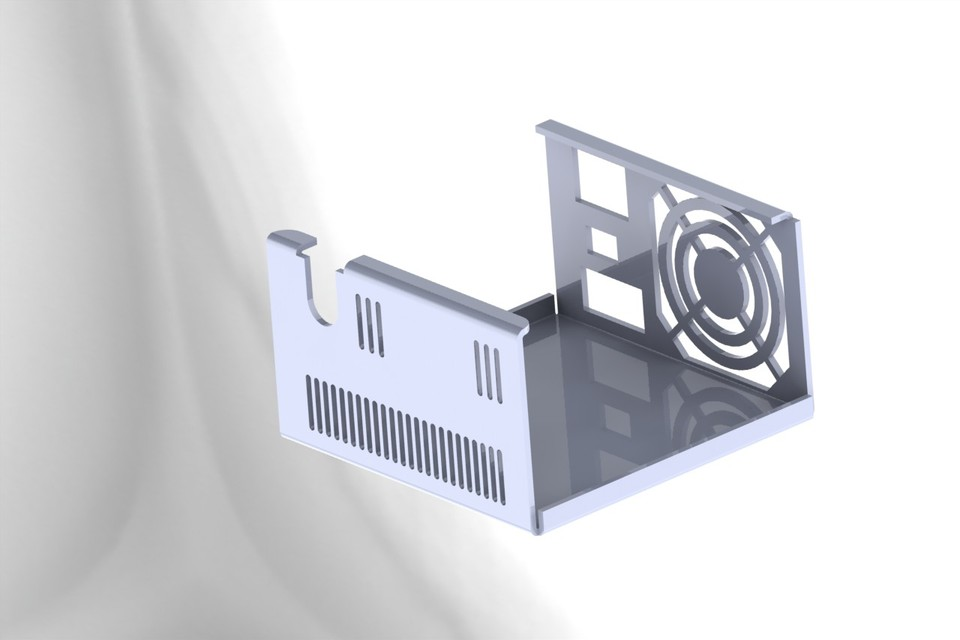 SMPS bottom cover | 3D CAD Model Library | GrabCAD