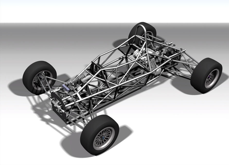 Formula car full chassis | 3D CAD Model Library | GrabCAD