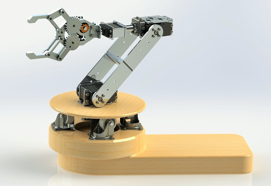 4 DOF ROBOTIC ARM | 3D CAD Model Library | GrabCAD