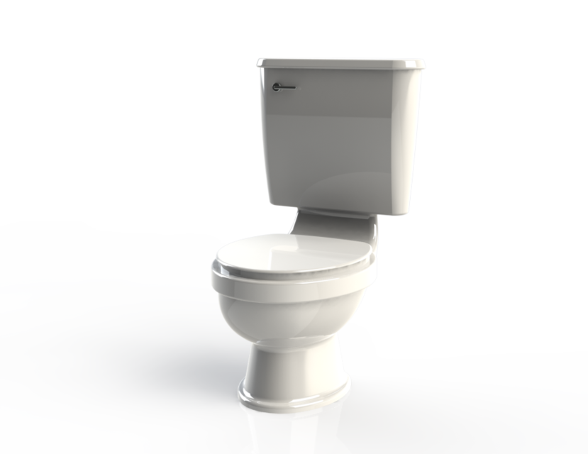 Simple toilet design 3d cad model library grabcad