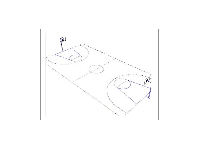 Basketball Court 3d Cad Model Library Grabcad