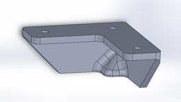 Conexão para perfil de alumínio com pé para apoio