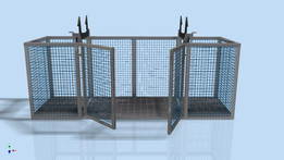 Steel Cage With Doors