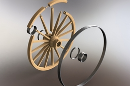Conestoga Wagon-Rear wheel