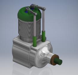 4 Stroke One Cylinder Engine (working valves)