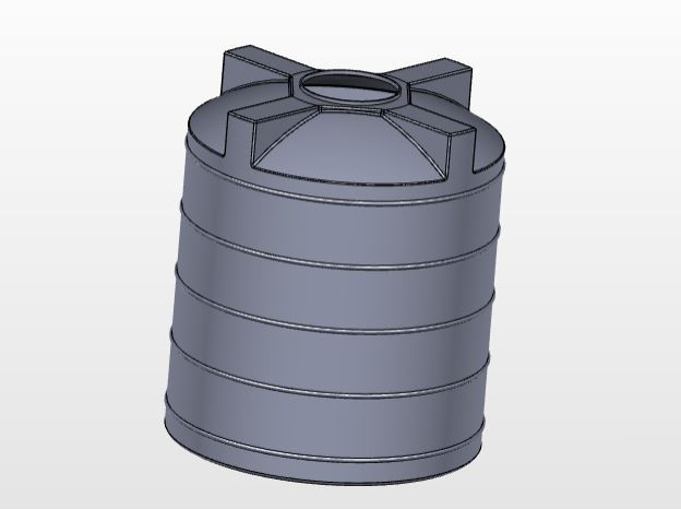 Water Tank | 3D CAD Model Library | GrabCAD
