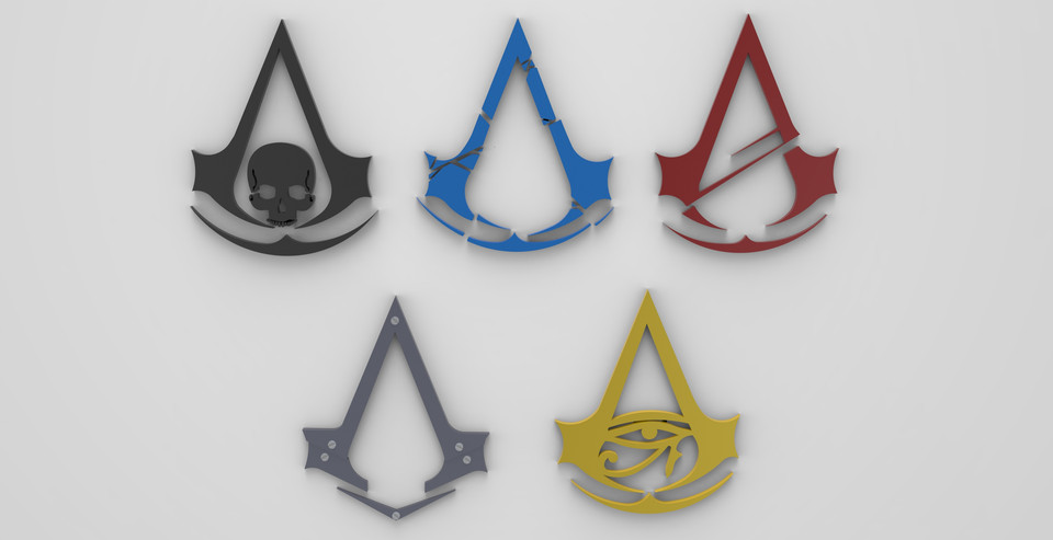 Assassin S Creed Logo 3d Cad Model Library Grabcad