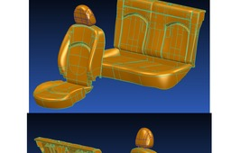 Interior car foam seats