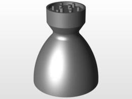 simple liquid rocket thrust chamber