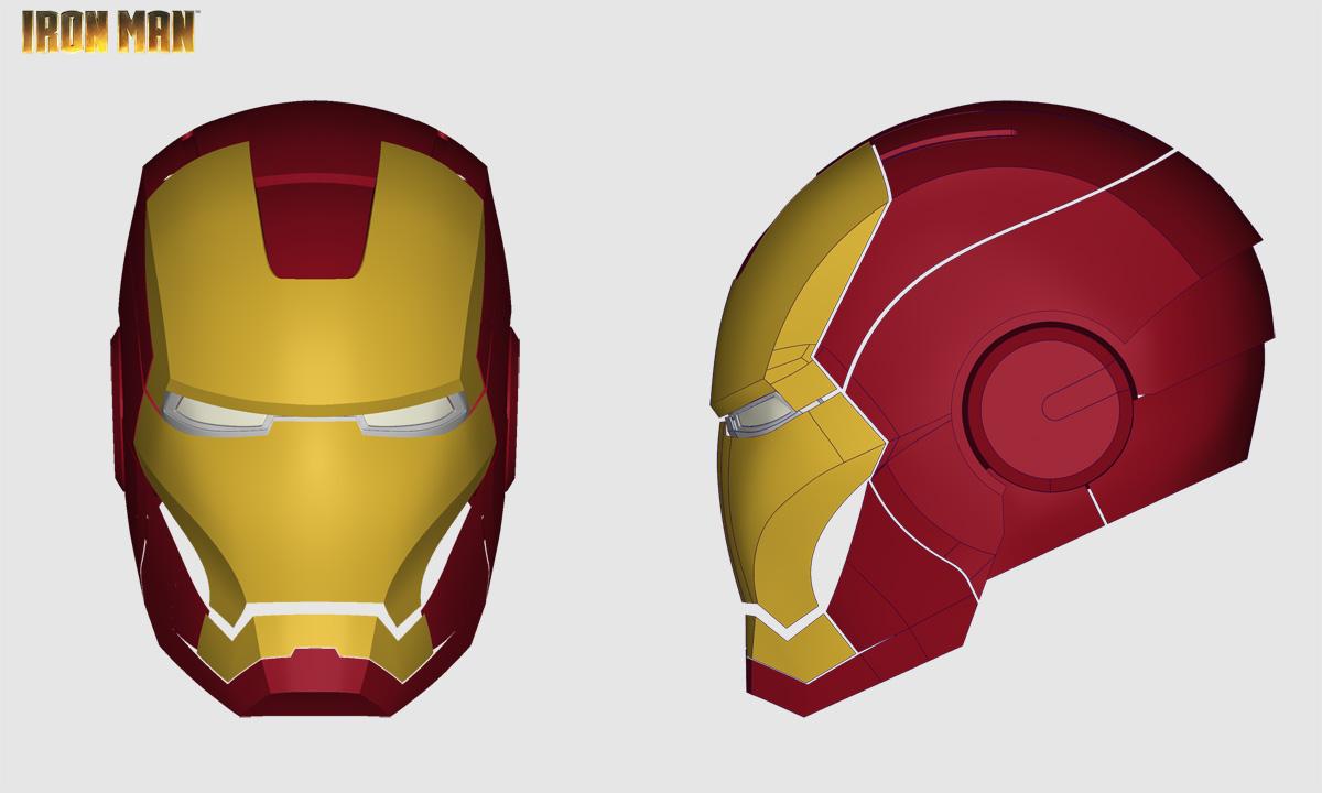 Iron Man Helmet Drawing Iron Man Helmet Step / Iges