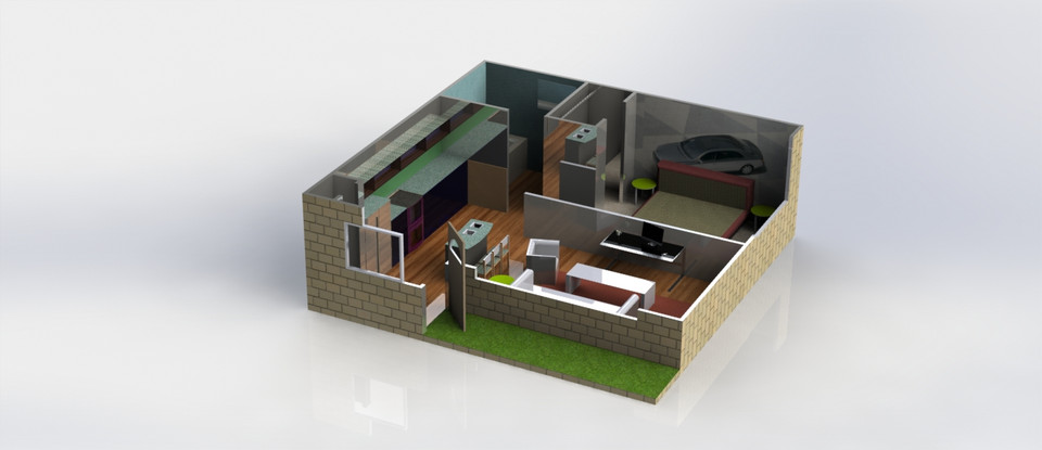 house design 3d cad model library grabcad