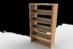 Double sided book shelf