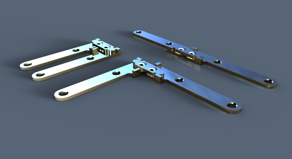 Brass Card Table Hinge | 3D CAD Model Library | GrabCAD