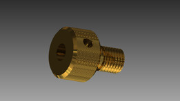 Brass Collet for a 11/64th cutter shaft