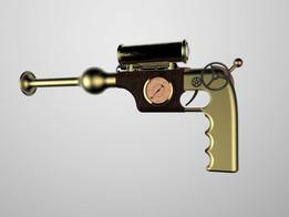 1800's steam powered handgun.