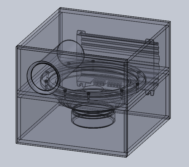 12 Inch Bandpass Sub-woofer Box Design | 3D CAD Model Library | GrabCAD