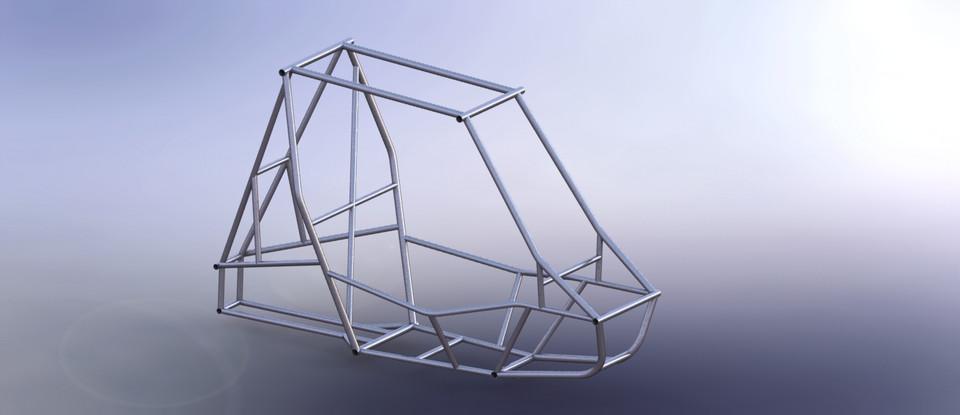 Baja Sae Frame 3d Cad Model Library Grabcad