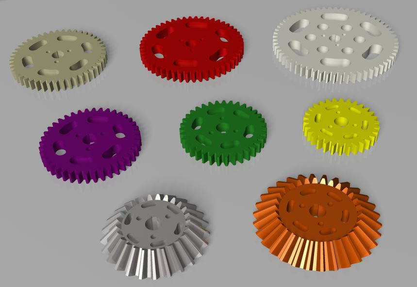 picture about Gears Printable named Printable Gears, Engranajes imprimibles 3D CAD Fashion
