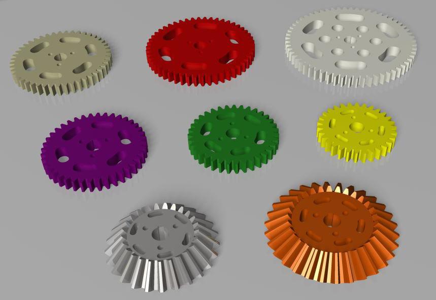 photograph regarding Printable Gears titled Printable Gears, Engranajes imprimibles 3D CAD Fashion