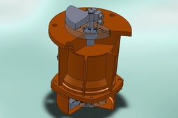 Vibrating motor with flange