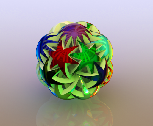 Abstract Stars Ball