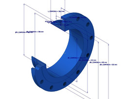 PARAMETERIZED WELDING NECK FLANGE - ANSI B16.20