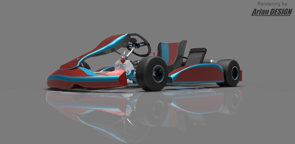 Go Kart 3d Fully Complete 3d Cad Model Library Grabcad
