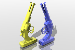 Vase, nice pistol shapes for 3D Printing Event Challenge 2nd edition