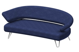 Sofa rund oval  couch - Recent models - GrabCAD - CAD Library