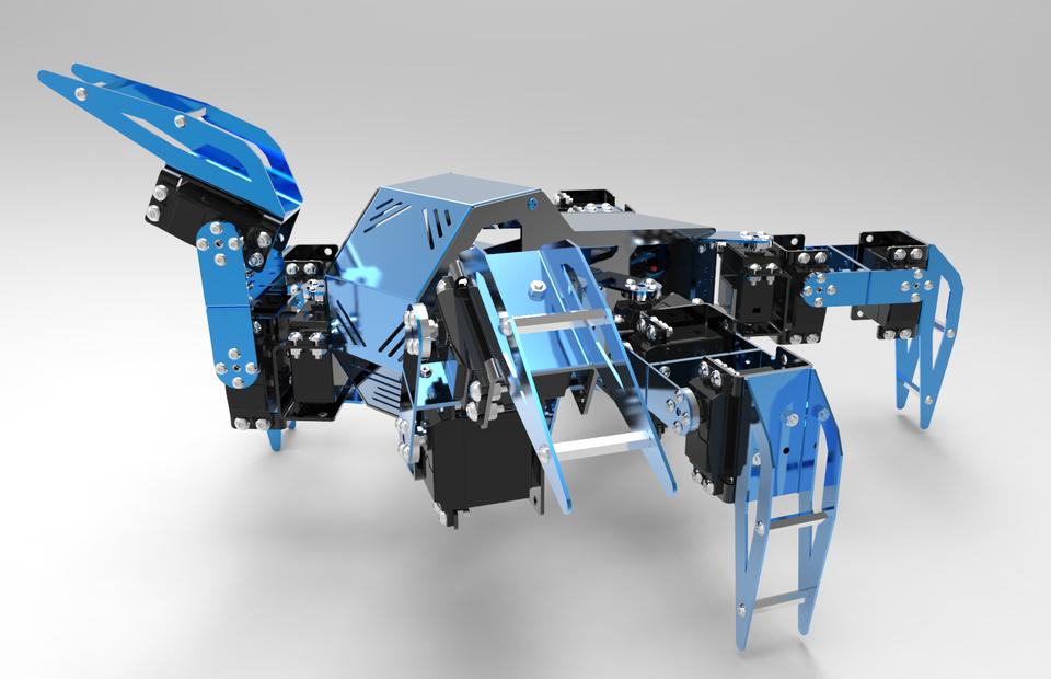 Hexapod Robotic Platform | 3D CAD Model Library | GrabCAD
