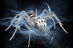 Tarantula, spider, 3d model, puzzle, sheetmetal, woodcraft