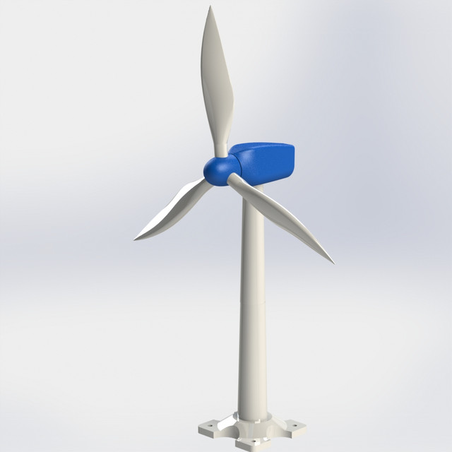 image relating to 3d Printable Wind Turbine known as Wind Turbine Fashion 3D CAD Fashion Library GrabCAD